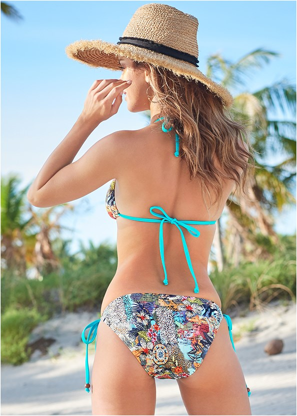 String Side Bikini Bottom,Triangle String Bikini Top