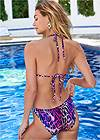 Cropped back view Sweetheart Tie Front Halter Monokini