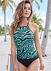 Front View Strappy Back Tankini Top