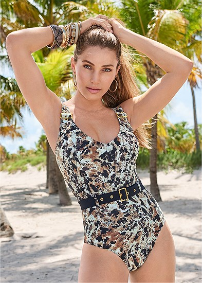 Belted Strap One-Piece