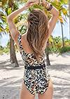 Back View Belted Strap One-Piece