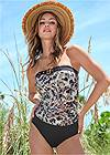 Front View Jet Set Belted Tankini Top