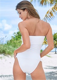 Back View Jet Set Belted Tankini Top