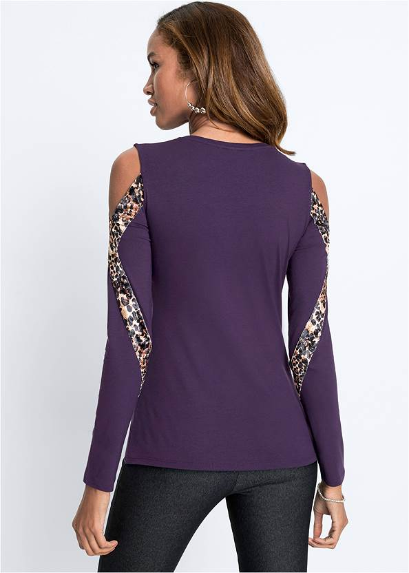 Cropped back view Leopard Detail Top