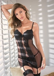 Alternate View Lace And Mesh Slip