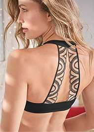Cropped Back View Front Close Lace Back Bra