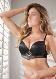 Alternate View Strappy Detail Push Up Bra