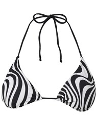 Ghost with background  view Triangle String Bikini Top