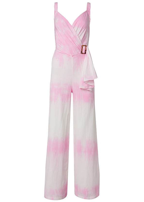 Ghost with background  view Tie Dye Linen Jumpsuit