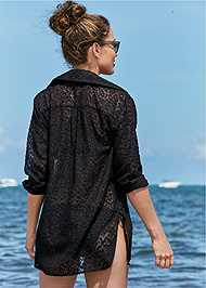 Back View Button Cover-Up Shirt