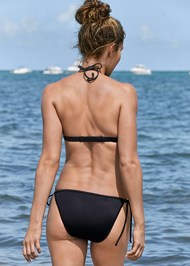 Back View Sequin String Bikini Bottom