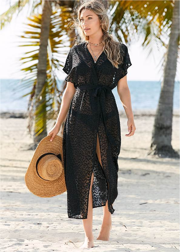 Alternate View Long Wrap Cover-Up Dress