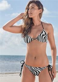 Full front view Triangle String Bikini Top