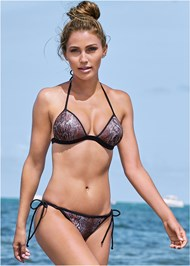 Front View Sequin String Bikini Bottom