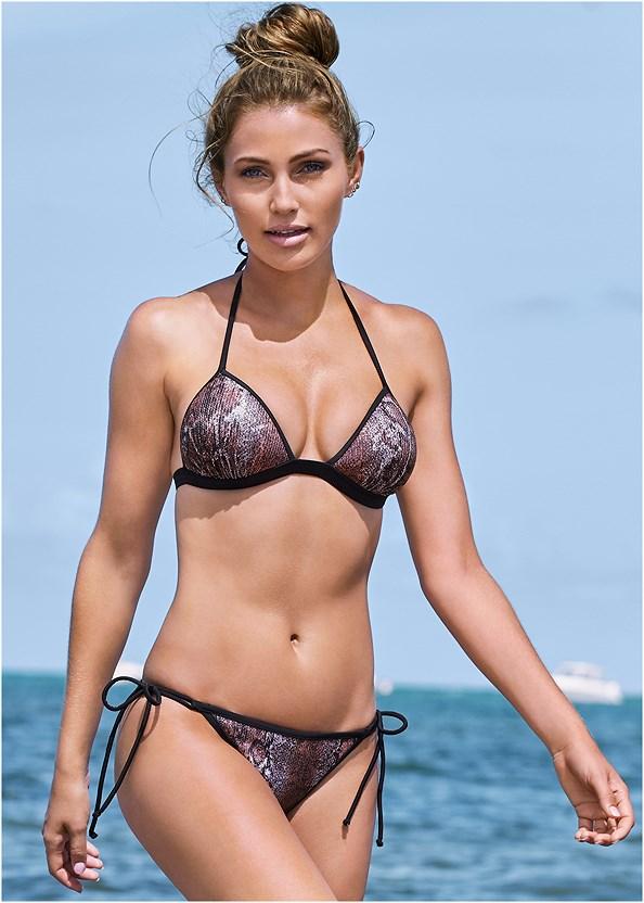 Sequin String Bikini Bottom,Enhancer Push Up Triangle Top