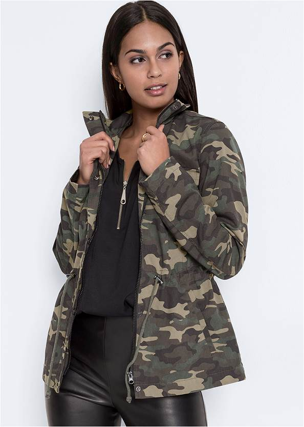Cropped front view Camo Jacket