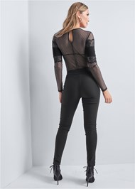 Back View Lace Long Sleeve Bodysuit
