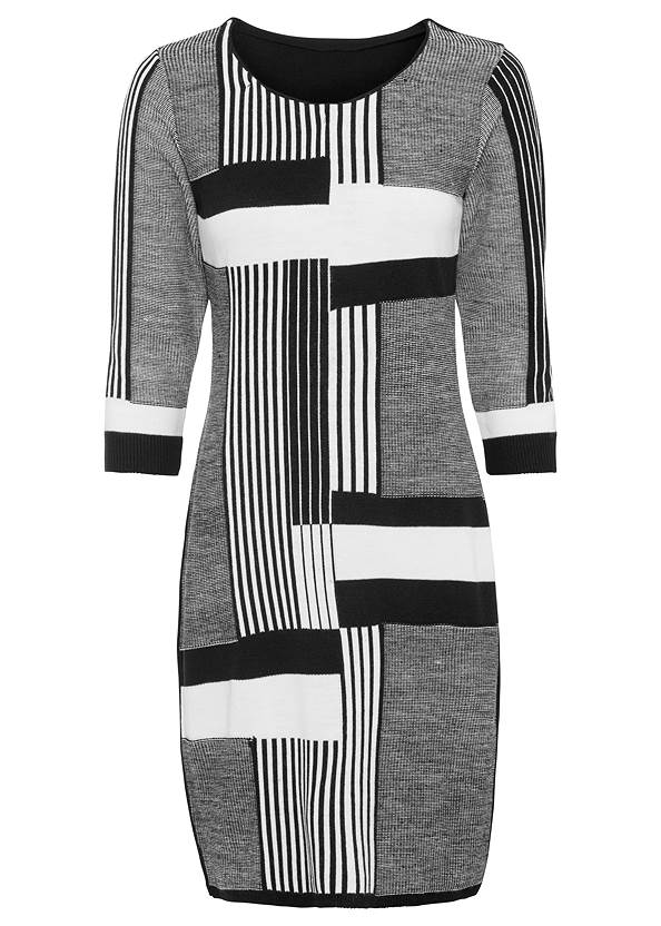 Ghost front view Color Block Sweater Dress