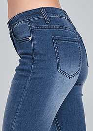 Detail side view Lace Up Flare Jeans