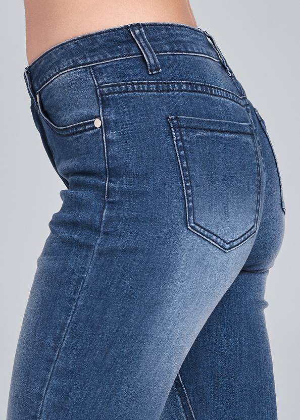 Detail side view Lace-Up Flare Jeans