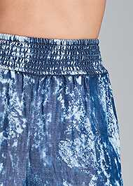 Detail front view Tie Dye Chambray Pants