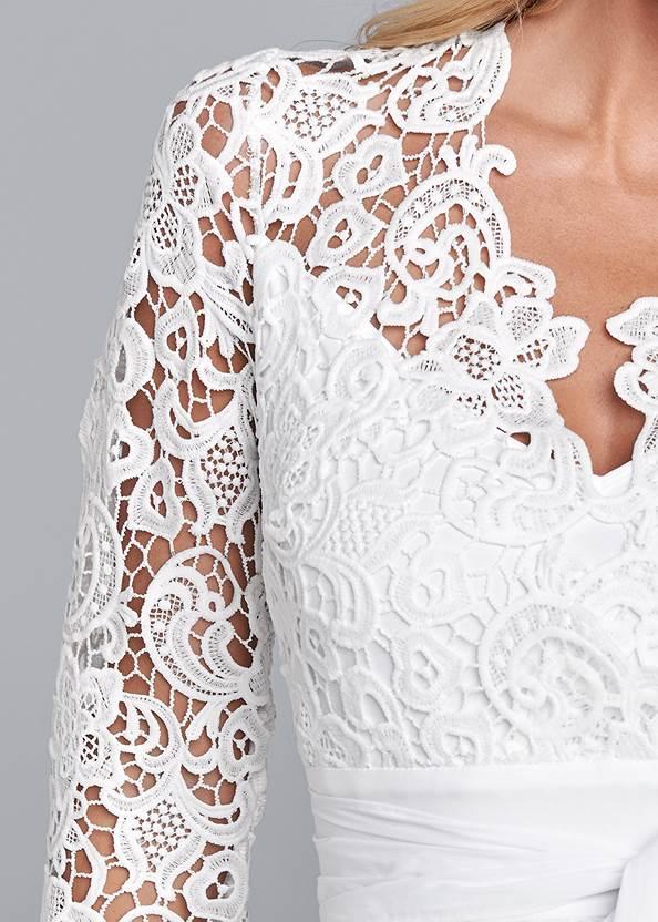 Alternate View Lace Bell Sleeve Mini Dress
