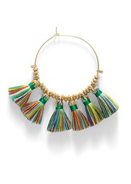 Alternate View Tassel Hoops