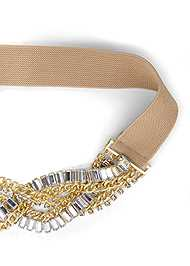 Ghost  view Stretch Chain Belt
