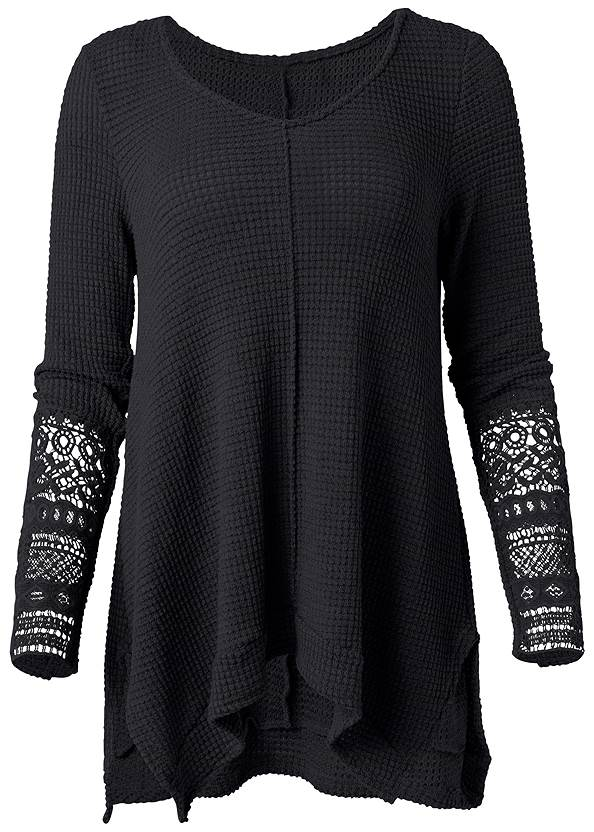 Ghost with background  view Casual Waffle Knit Top