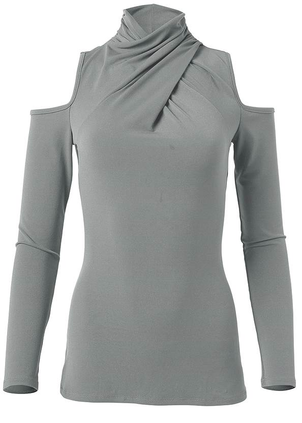 Ghost with background  view Mock Neck Top