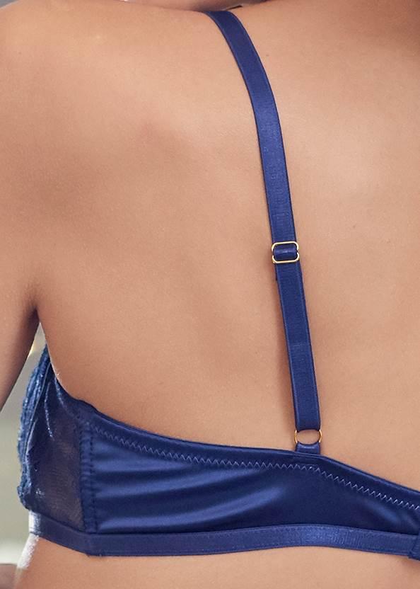 Detail back view Lace Bra Skirt Set