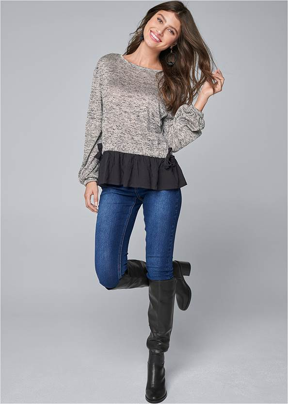 Full front view Casual Twofer Top