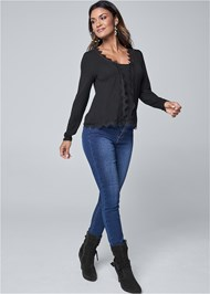 Full Front View Lace Detail Top