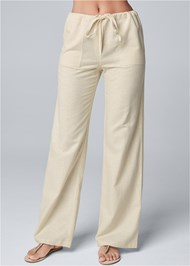 Waist down front view Drawstring Pants