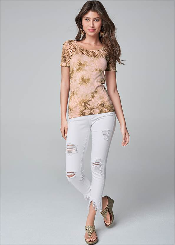 Full Front View Cut Out Seamless Top