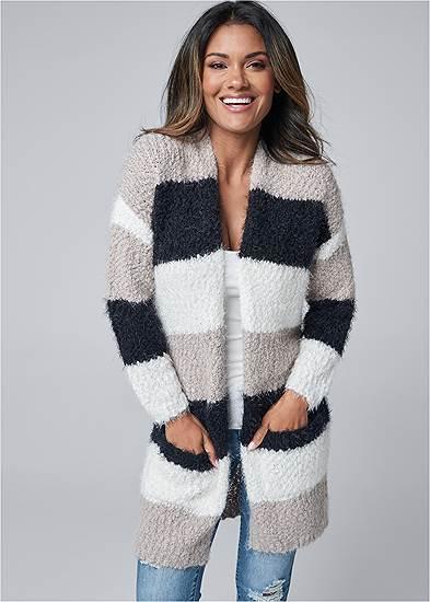 Cozy Striped Cardigan