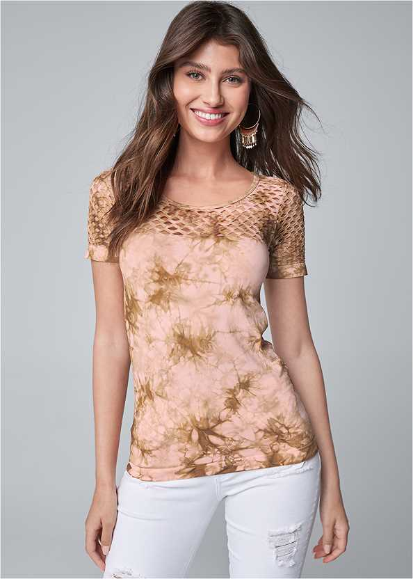 Cut Out Seamless Top,Triangle Hem Jeans,Double Strap Cork Wedge