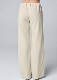 Waist down back view Drawstring Pants