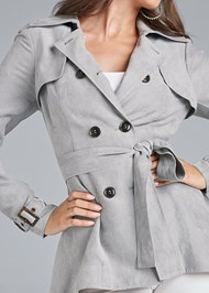 Alternate View Faux Suede Trench Coat