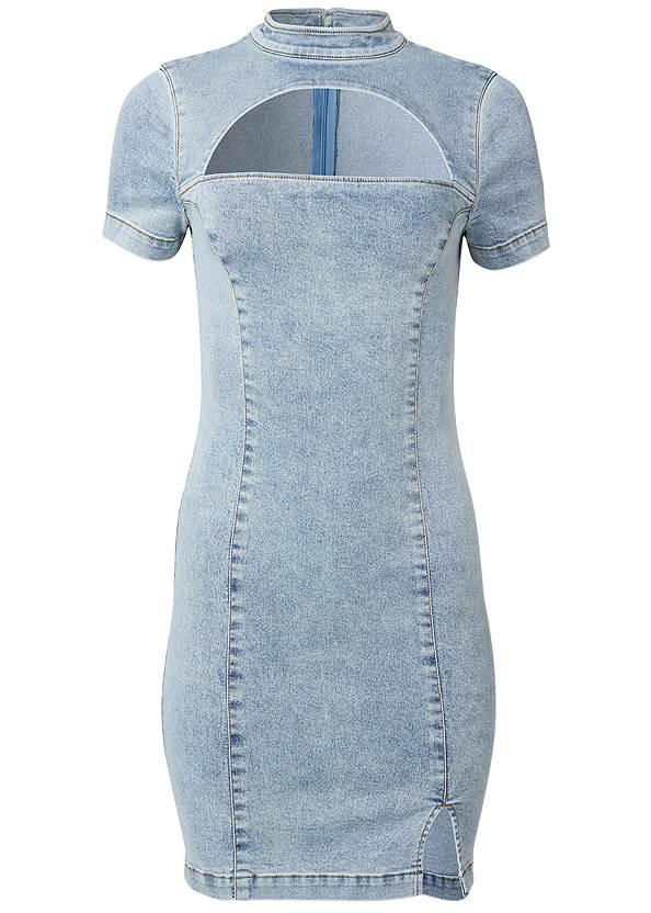 Alternate View Cut Out Denim Dress