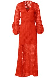 Ghost with background  view Open Knit Maxi Sweater Dress