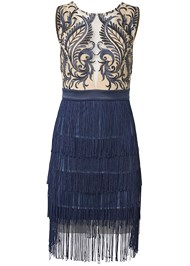 Ghost with background  view Embroidered Fringe Dress