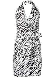 Alternate View Zebra Print Blazer Dress
