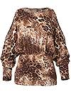 Ghost with background  view Leopard Cold Shoulder Top