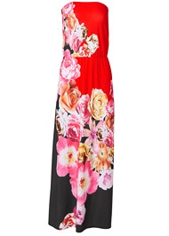 Alternate View Strapless Print Maxi Dress