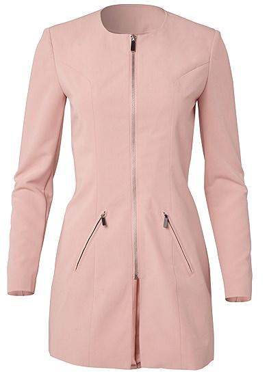Plus Size Zip Up Coat