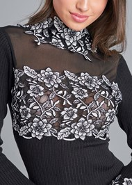 Alternate View Floral Applique Sweater