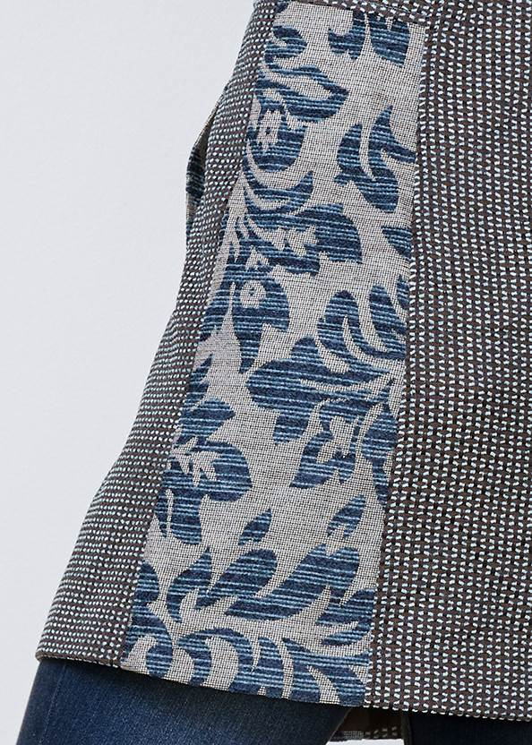 Alternate View Mixed Print Coat