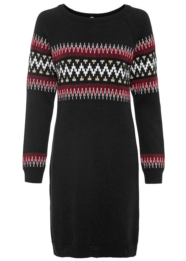 Ghost with background front view Printed Sweater Dress