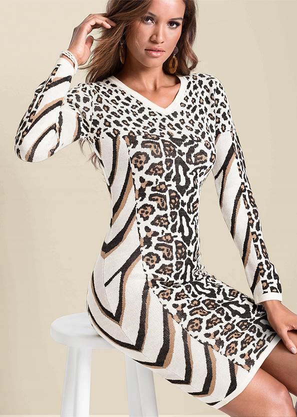 Detail  view Animal Print Sweater Dress